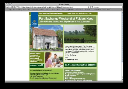 Newsletter for Crest Nicholson estate agents