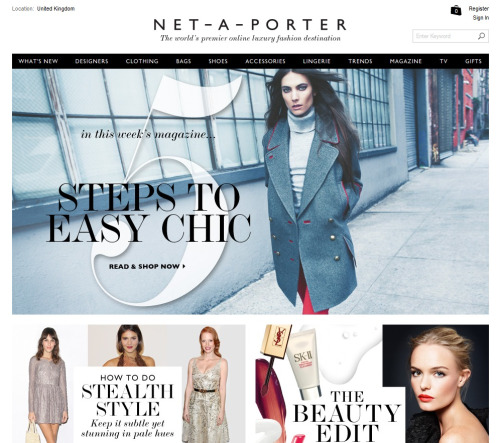 Screengrab of Net-A-Porter website