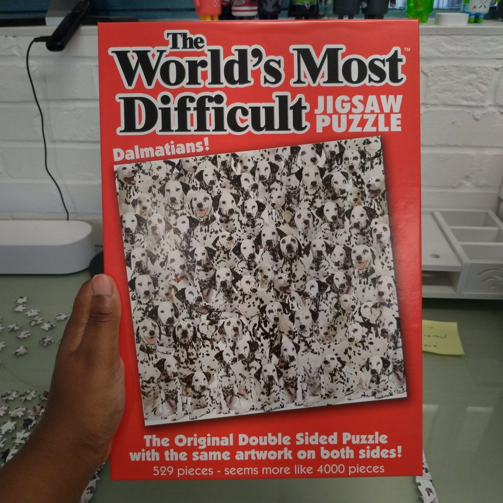 Box of The World's Most Difficult Jigsaw Puzzle - Dalmations