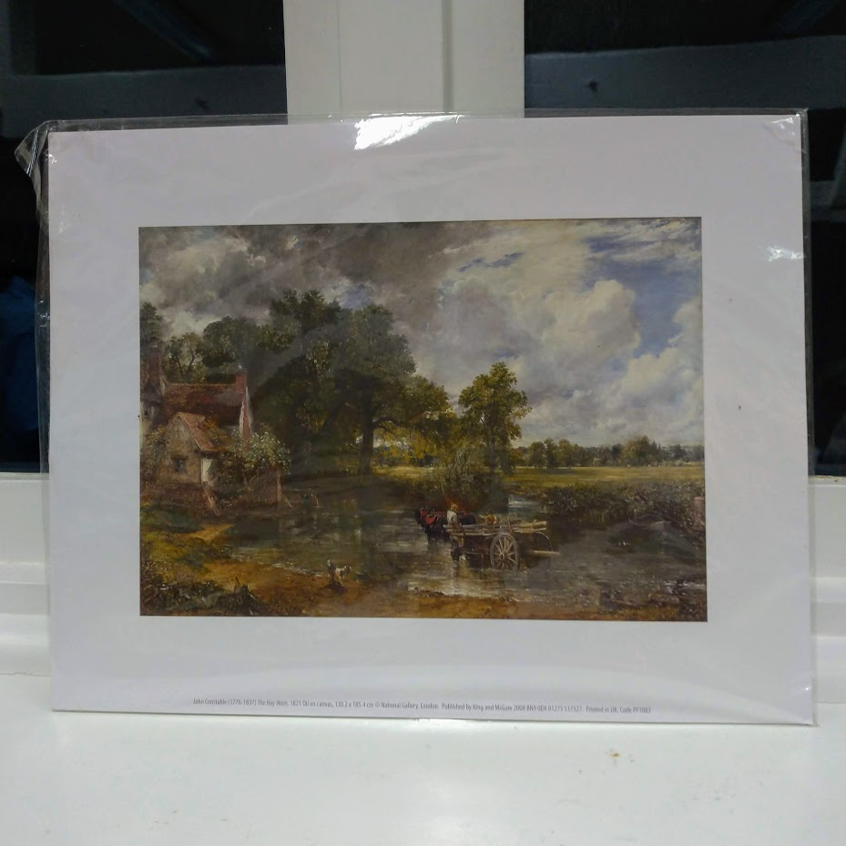 Famous landscape painting of a hay cart by John Constable